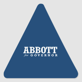 ABBOTT FOR GOVERNOR 2014 TRIANGLE STICKERS