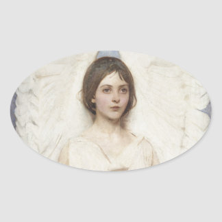 Abbott Handerson Thayer - Angel Oval Sticker