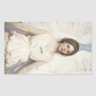 Abbott Handerson Thayer - Angel Rectangular Sticker