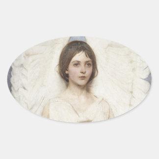 Abbott Handerson Thayer - Angel Oval Sticker