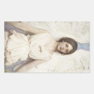 Abbott Handerson Thayer - Angel Rectangular Sticker