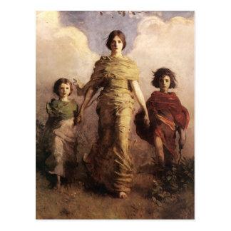 Abbott Handerson Thayer la Virgen Postal