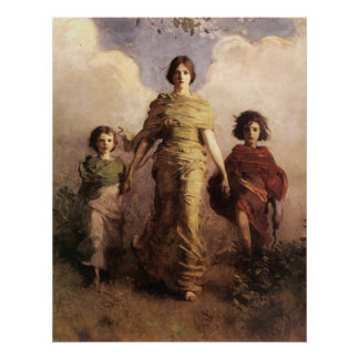 Abbott Handerson Thayer The Virgin Poster
