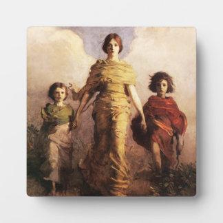 Abbott Handerson Thayer una placa de la Virgen