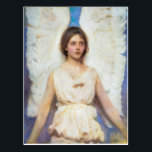 """Abbott Handerson Thayer Vintage Angel Postcard<br><div class=""""desc"""">Abbott Handerson Thayer (1849 – May 29, 1921) was an American artist, naturalist and teacher. As a painter of portraits, figures, animals and landscapes, he enjoyed a certain prominence during his lifetime, and his paintings are represented in the major American art collections. He is perhaps best known for his 'angel'...</div>"""