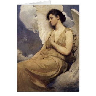 Abbott Handerson Thayer Winged Figure Card