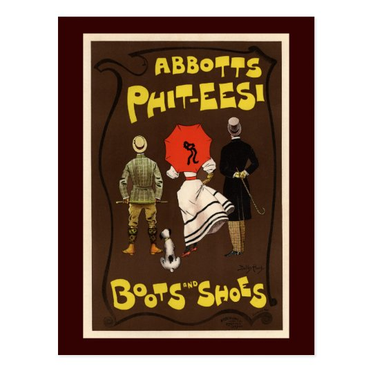 Abbotts Phit-Eesi Boots and Shoes Postcard
