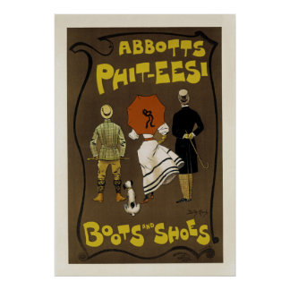 Abbotts Phit-Eesi ~ Boots and Shoes Poster