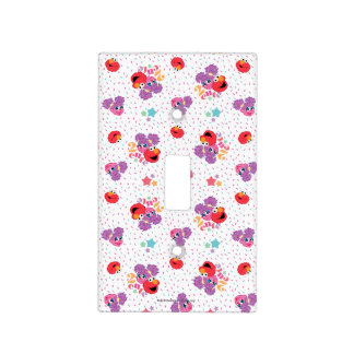 Abby And Elmo 2 Cute Pattern Light Switch Cover