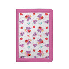 Abby And Elmo 2 Cute Pattern Trifold Wallet at Zazzle