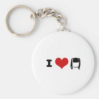 abby basic round button keychain