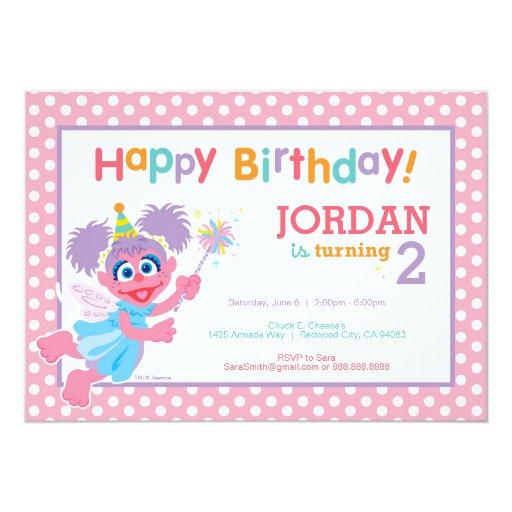 Abby Birthday 5x7 Paper Invitation Card