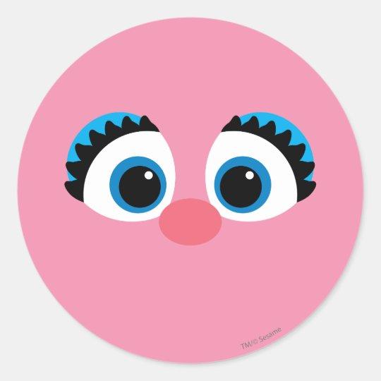 Abby cadabby big face classic round sticker zazzle abby cadabby big face classic round sticker maxwellsz