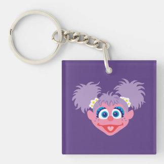 Abby Cadabby Face Double-Sided Square Acrylic Keychain