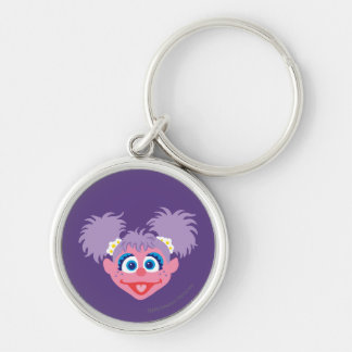 Abby Cadabby Face Silver-Colored Round Keychain