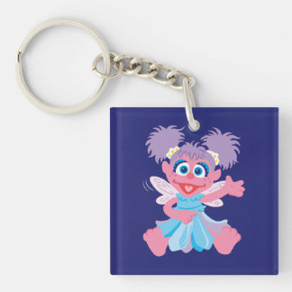 Abby Cadabby Fairy Double-Sided Square Acrylic Keychain