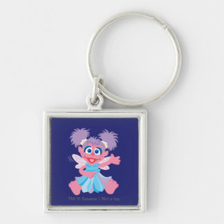 Abby Cadabby Fairy Silver-Colored Square Keychain