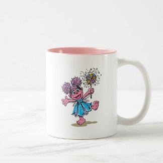 Abby Cadabby Retro Art Two-Tone Coffee Mug