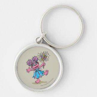 Abby Cadabby Retro Art Silver-Colored Round Keychain