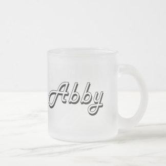 Abby Classic Retro Name Design 10 Oz Frosted Glass Coffee Mug