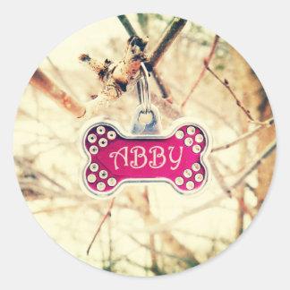 Abby Classic Round Sticker
