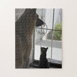Abby con Zorro en el rompecabezas de la puerta pri