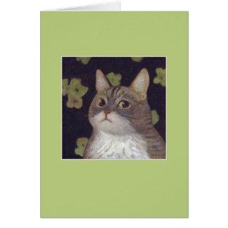 Abby el gato tarjeta de felicitación