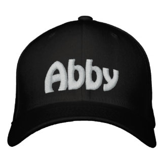 Abby Embroidered Baseball Cap
