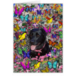 Abby en la tarjeta de las mariposas - Labrador neg