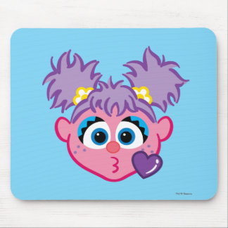 Abby Face Throwing a Kiss Mouse Pad