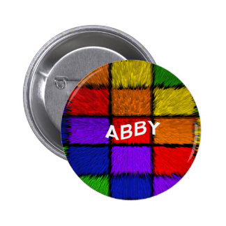 ABBY ( female names ) 2 Inch Round Button