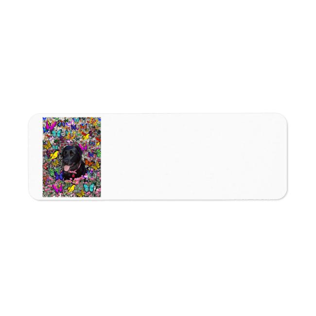 Abby in Butterflies - Black Lab Dog Custom Return Address Labels