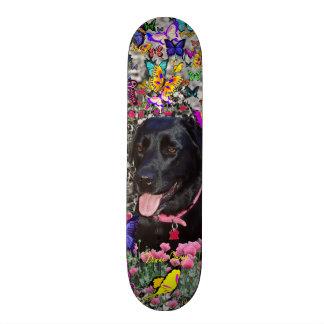 Abby in Butterflies - Black Lab Dog Skateboard Deck