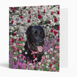 Abby in Flowers – Black Lab Dog Binder