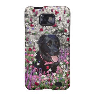 Abby in Flowers – Black Lab Dog Samsung Galaxy SII Cases
