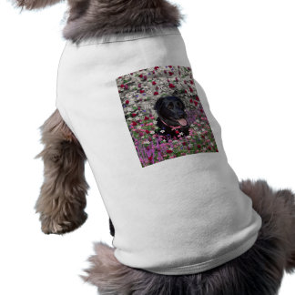 Abby in Flowers – Black Lab Dog Tee