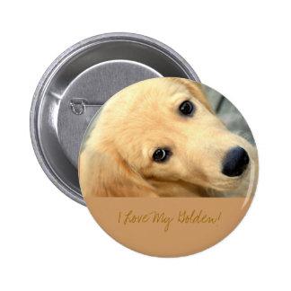 Abby inocente - amor de I mi botón de oro Pin Redondo De 2 Pulgadas