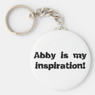 Abby is my Inspiration Basic Round Button Keychain