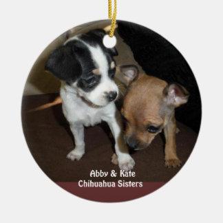 Abby & Kate Chihuahua Sisters Ornament
