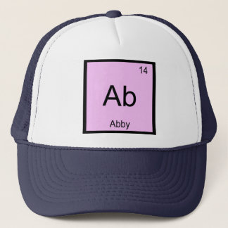 Abby Name Chemistry Element Periodic Table Trucker Hat