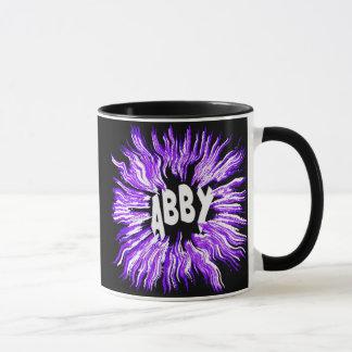 Abby Name Star in Purple Mug