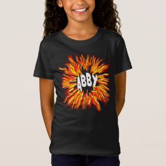 Abby Name Star on Fire T-Shirt