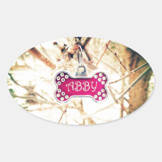 Abby Oval Sticker