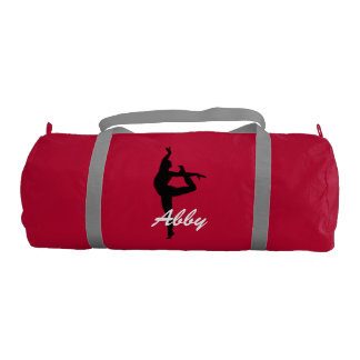 Abby personalized duffle gym bag