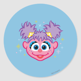 Abby Smiling Face Classic Round Sticker