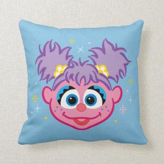 Abby Smiling Face Throw Pillow