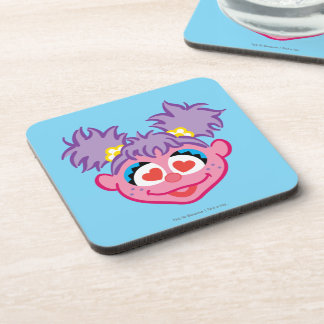 Abby Smiling Face with Heart-Shaped Eyes Beverage Coaster