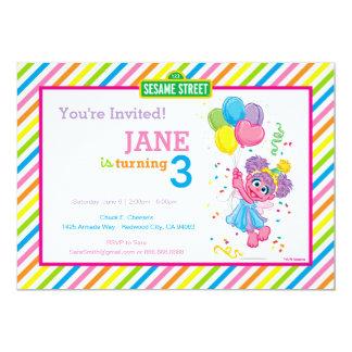 Abby Striped Birthday Card