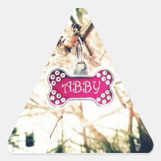 Abby Triangle Sticker