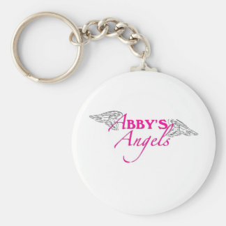 Abby's Angels Basic Round Button Keychain